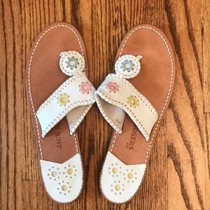 White Jack Rogers sandals. Size 10. NWOT